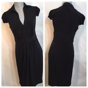 NWT LAUNDRY Sz 4 Neiman Marcus Belted Jersey Dress